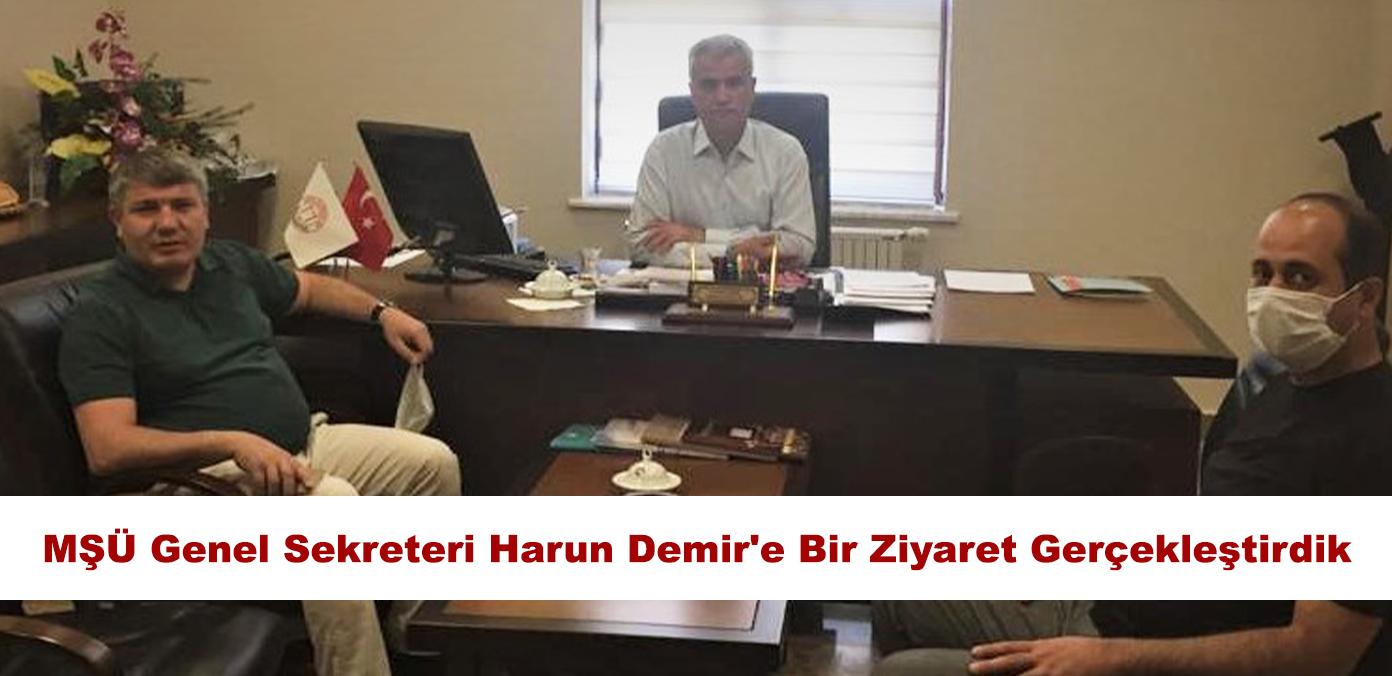 Muş Alparslan Üniversitesi Genel Sekreteri Harun Demir