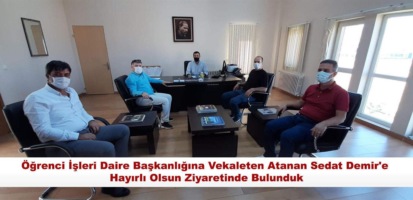 Öğrenci İşleri Daire Başkanlığına Vekaleten Atanan Sedat Demir
